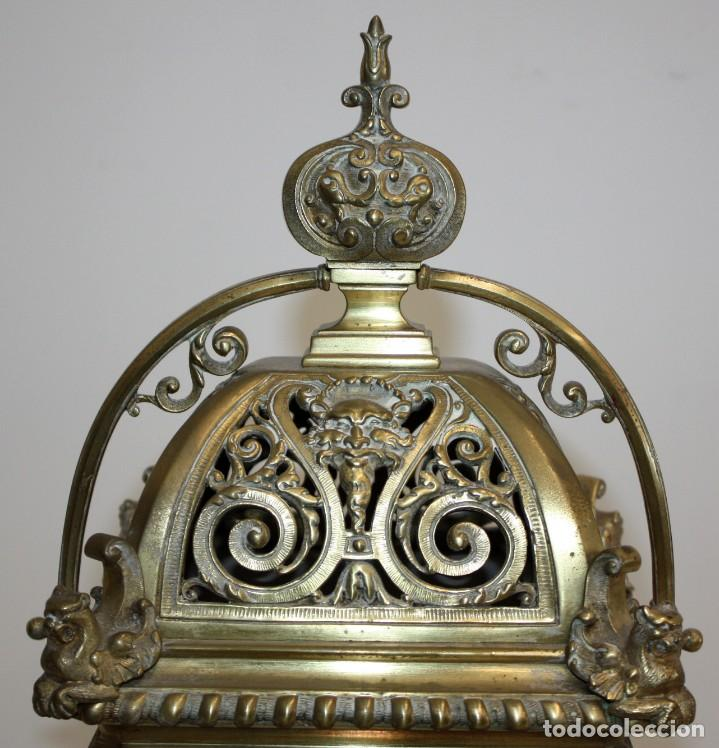 Relojes de carga manual: RELOJ DE SOBREMESA DEL SIGLO XIX EN BRONCE - Foto 3 - 171013780