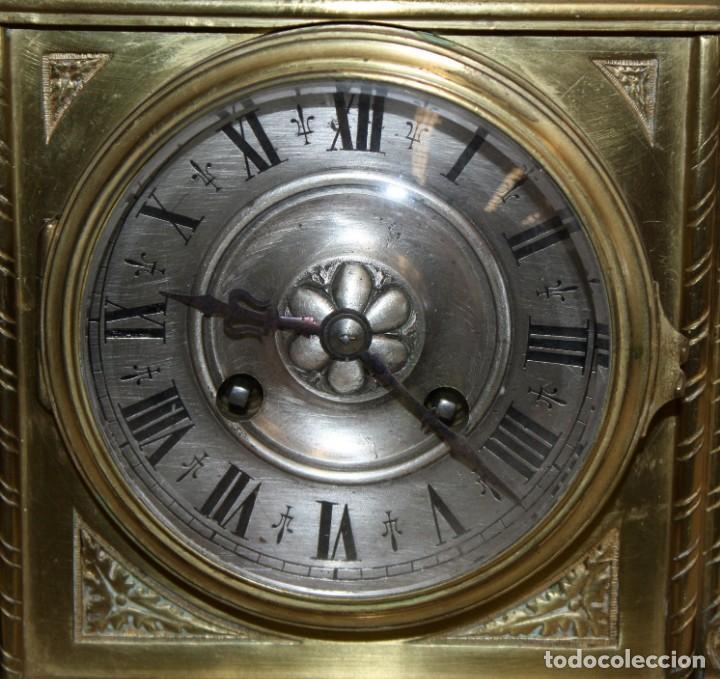 Relojes de carga manual: RELOJ DE SOBREMESA DEL SIGLO XIX EN BRONCE - Foto 4 - 171013780