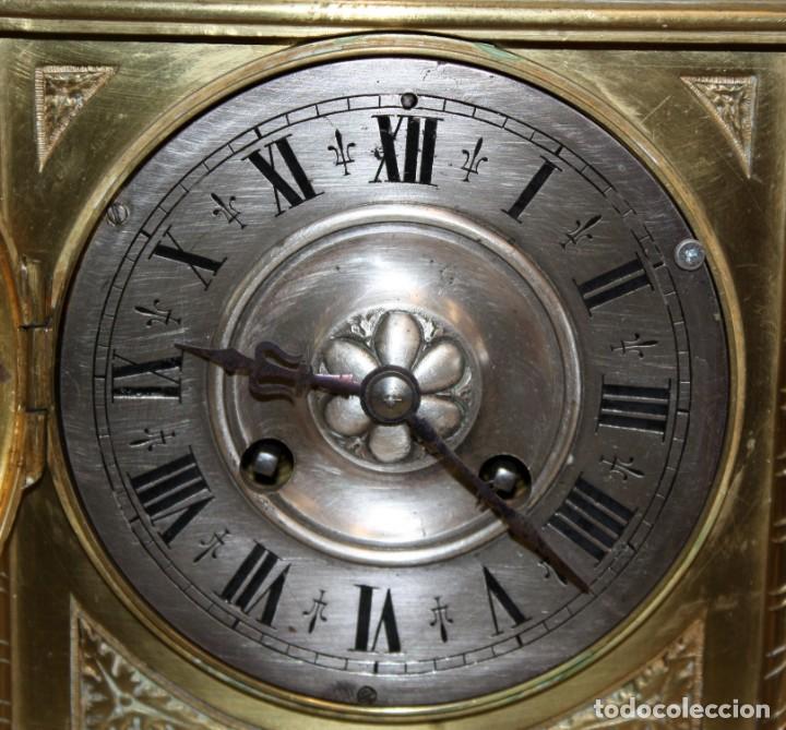 Relojes de carga manual: RELOJ DE SOBREMESA DEL SIGLO XIX EN BRONCE - Foto 5 - 171013780