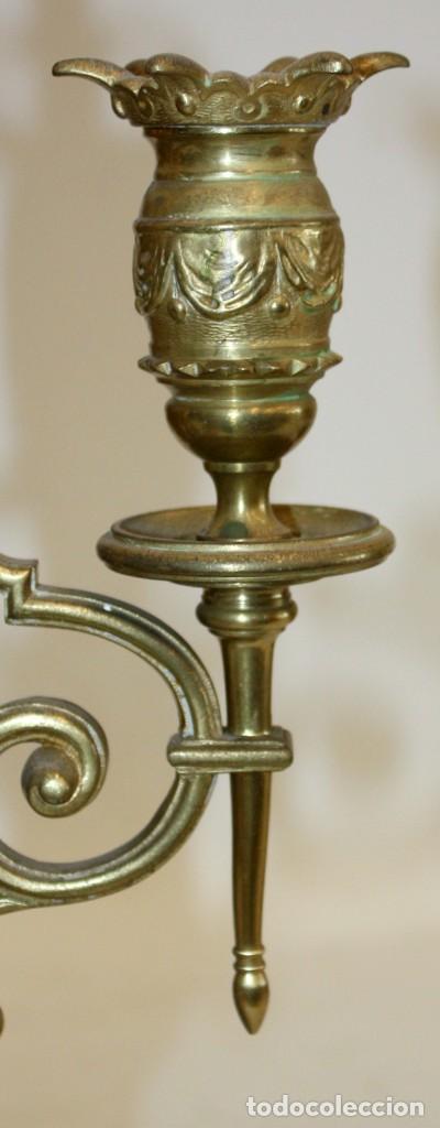 Relojes de carga manual: RELOJ DE SOBREMESA DEL SIGLO XIX EN BRONCE - Foto 8 - 171013780