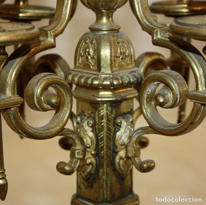 Relojes de carga manual: RELOJ DE SOBREMESA DEL SIGLO XIX EN BRONCE - Foto 11 - 171013780