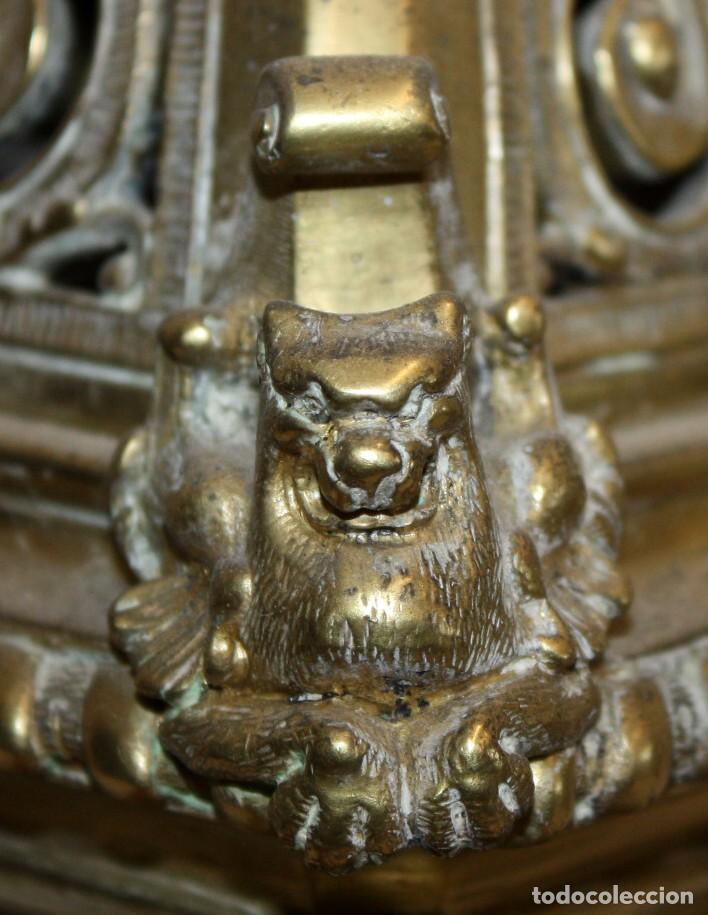 Relojes de carga manual: RELOJ DE SOBREMESA DEL SIGLO XIX EN BRONCE - Foto 15 - 171013780