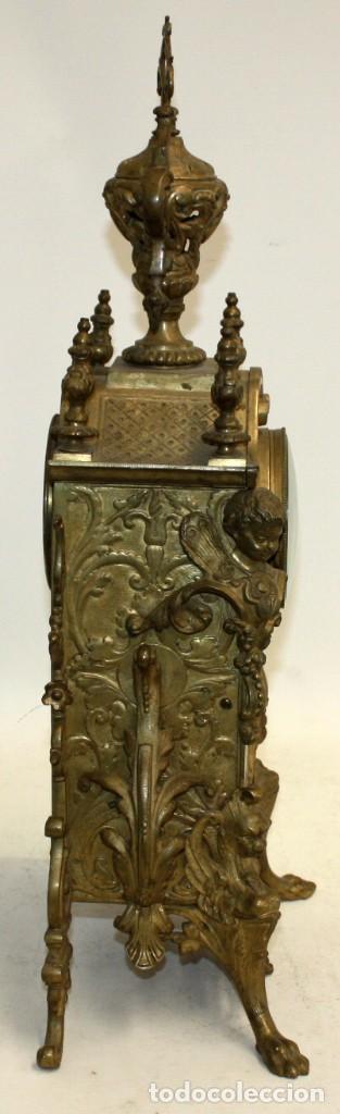 Relojes de carga manual: ANTIGUO RELOJ DE SOBREMESA EN BRONCE DE LA 2ª MITAD DEL SIGLO XIX - Foto 23 - 171014808