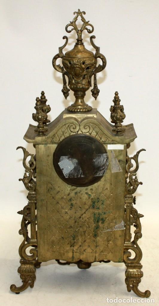 Relojes de carga manual: ANTIGUO RELOJ DE SOBREMESA EN BRONCE DE LA 2ª MITAD DEL SIGLO XIX - Foto 24 - 171014808