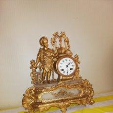 Relojes de carga manual: ANTIGUO RELOJ SAN JUANITO SIGLO XIX PATINA EN BRONCE AL MERCURIO SIGLO XIX. Lote 171257099