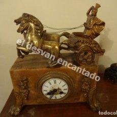 Relojes de carga manual: RELOJ ESTILO IMPERIO. MÁRMOL Y BRONCE. VER FOTOS Y DESCRIPCION. Lote 171436322