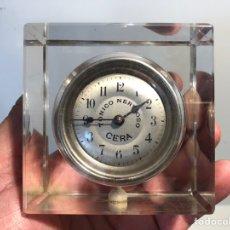Relojes de carga manual: RELOJ DE PUBLICIDAD DE TONICO NERVIOSO CERA, BLOQUE DE CRISTAL.. Lote 171655814