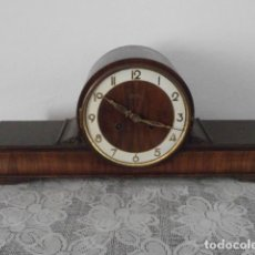 Relojes de carga manual: RELOJ MECÁNICO ANTIGUO ALEMÁN CHIMENEA MESA SOBREMESA FUNCIONA DA CAMPANADAS FABRICADO AÑOS 1930/40. Lote 171702513