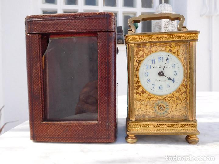 RELOJ DESPERTADOR ANTIGUO DE JOSÉ BARRERA EN BARCELONA 1880 APROX. (Relojes - Sobremesa Carga Manual)