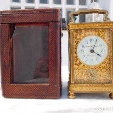 Relojes de carga manual: RELOJ DESPERTADOR ANTIGUO DE JOSÉ BARRERA EN BARCELONA 1880 APROX.. Lote 171977063