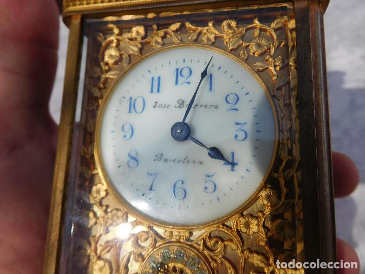 Relojes de carga manual: Reloj despertador antiguo de José Barrera en Barcelona 1880 aprox. - Foto 3 - 171977063
