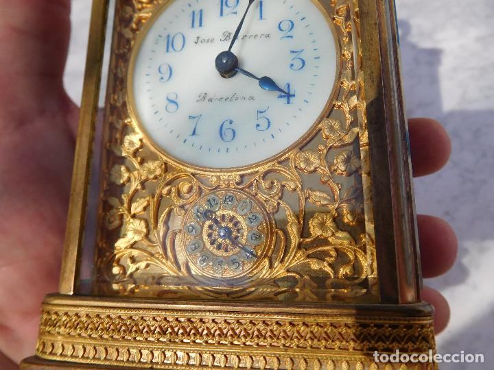 Relojes de carga manual: Reloj despertador antiguo de José Barrera en Barcelona 1880 aprox. - Foto 4 - 171977063