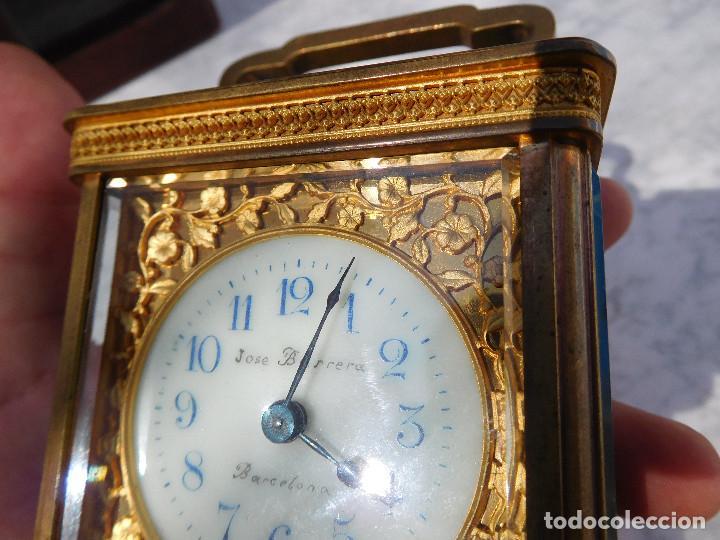 Relojes de carga manual: Reloj despertador antiguo de José Barrera en Barcelona 1880 aprox. - Foto 5 - 171977063