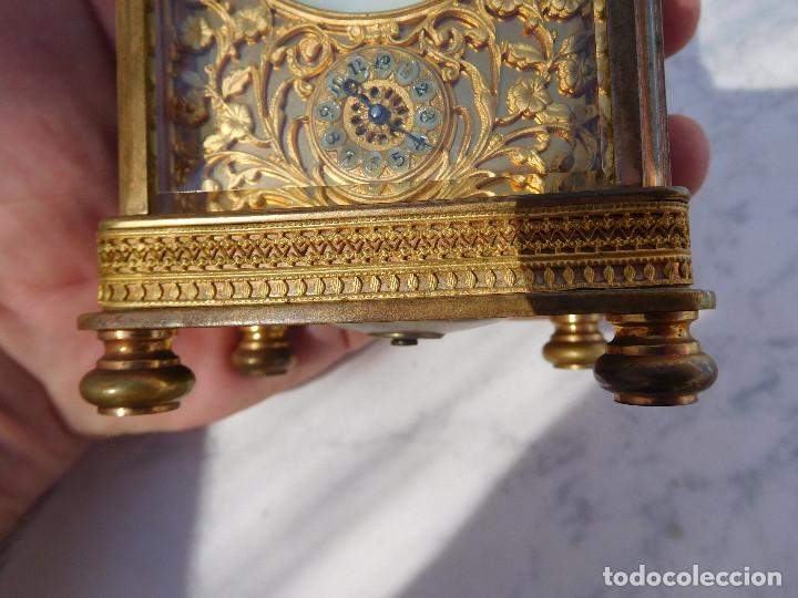 Relojes de carga manual: Reloj despertador antiguo de José Barrera en Barcelona 1880 aprox. - Foto 6 - 171977063