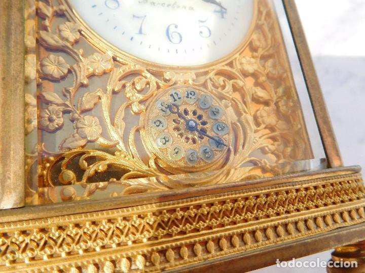 Relojes de carga manual: Reloj despertador antiguo de José Barrera en Barcelona 1880 aprox. - Foto 7 - 171977063