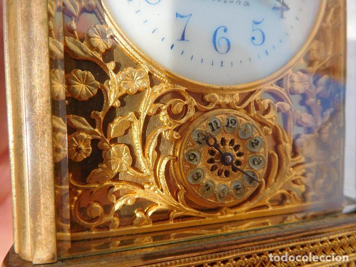 Relojes de carga manual: Reloj despertador antiguo de José Barrera en Barcelona 1880 aprox. - Foto 8 - 171977063