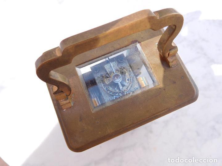 Relojes de carga manual: Reloj despertador antiguo de José Barrera en Barcelona 1880 aprox. - Foto 9 - 171977063