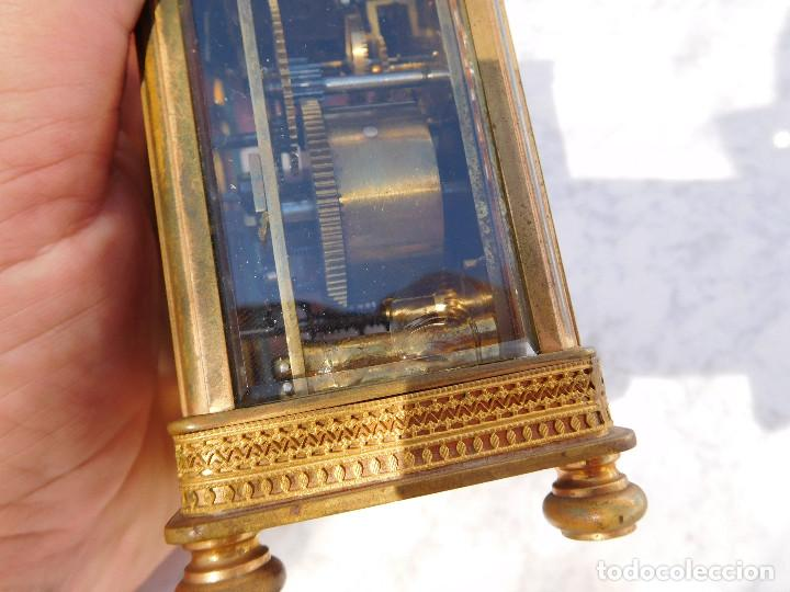 Relojes de carga manual: Reloj despertador antiguo de José Barrera en Barcelona 1880 aprox. - Foto 14 - 171977063