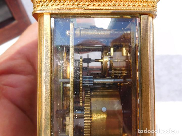 Relojes de carga manual: Reloj despertador antiguo de José Barrera en Barcelona 1880 aprox. - Foto 15 - 171977063
