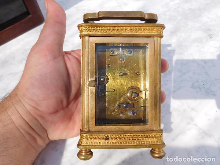 Relojes de carga manual: Reloj despertador antiguo de José Barrera en Barcelona 1880 aprox. - Foto 17 - 171977063