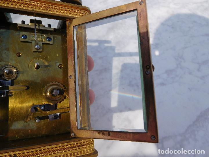 Relojes de carga manual: Reloj despertador antiguo de José Barrera en Barcelona 1880 aprox. - Foto 23 - 171977063