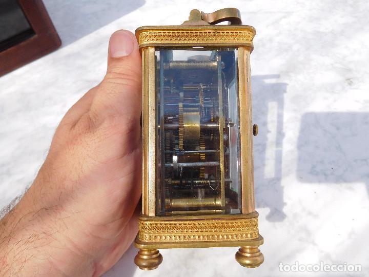 Relojes de carga manual: Reloj despertador antiguo de José Barrera en Barcelona 1880 aprox. - Foto 24 - 171977063