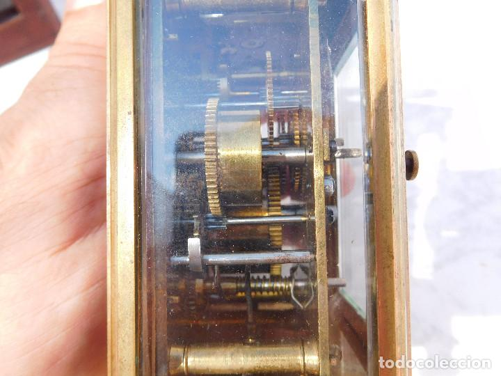 Relojes de carga manual: Reloj despertador antiguo de José Barrera en Barcelona 1880 aprox. - Foto 27 - 171977063