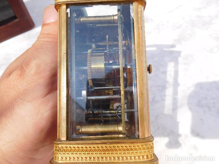 Relojes de carga manual: Reloj despertador antiguo de José Barrera en Barcelona 1880 aprox. - Foto 28 - 171977063