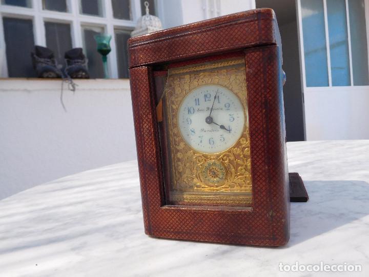 Relojes de carga manual: Reloj despertador antiguo de José Barrera en Barcelona 1880 aprox. - Foto 53 - 171977063