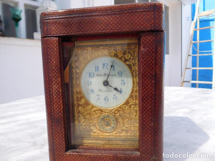 Relojes de carga manual: Reloj despertador antiguo de José Barrera en Barcelona 1880 aprox. - Foto 54 - 171977063