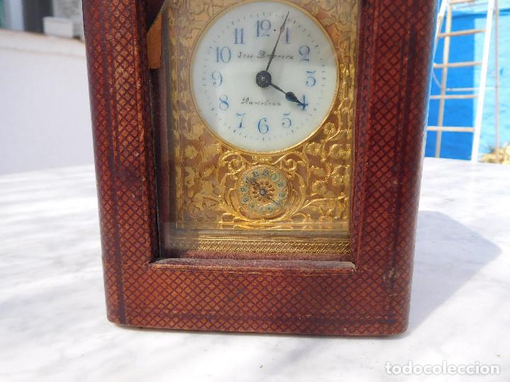 Relojes de carga manual: Reloj despertador antiguo de José Barrera en Barcelona 1880 aprox. - Foto 55 - 171977063
