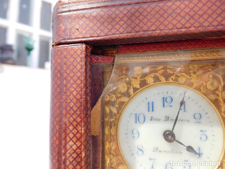 Relojes de carga manual: Reloj despertador antiguo de José Barrera en Barcelona 1880 aprox. - Foto 57 - 171977063