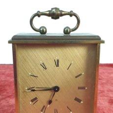 Relojes de carga manual: RELOJ DE SOBREMESA SWIZA. BRONCE. MAQUINARIA DE 8 DIAS. SUIZA. CIRCA 1960. . Lote 172470328