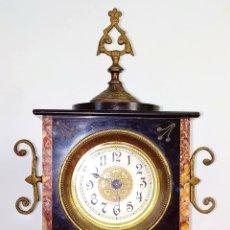 Relojes de carga manual: RELOJ DE REPISA. MARMOL. BRONCE. FRANCIA (?). FIN XIX. Lote 172834533
