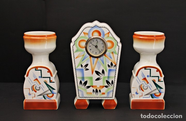 RELOJ ART DECO CON GUARNICIÓN FUNCIOANANDO (Relojes - Sobremesa Carga Manual)