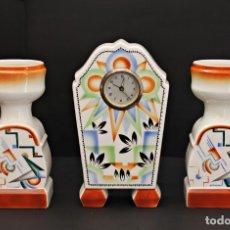 Relojes de carga manual: RELOJ ART DECO CON GUARNICIÓN FUNCIOANANDO. Lote 173381148