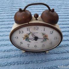 Relojes de carga manual: RELOJ VINTAGE ALEMÁN (GOLDBUL. - WEST GERMANY) AÑOS 50/60. FUNCIONANDO. . Lote 173638318