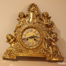Relojes de carga manual: ANTIGUO RELOJ DE BRONCE CARGA MANUAL FUNCIONAONANDO !!! AÑOS 45-50. Lote 173681408