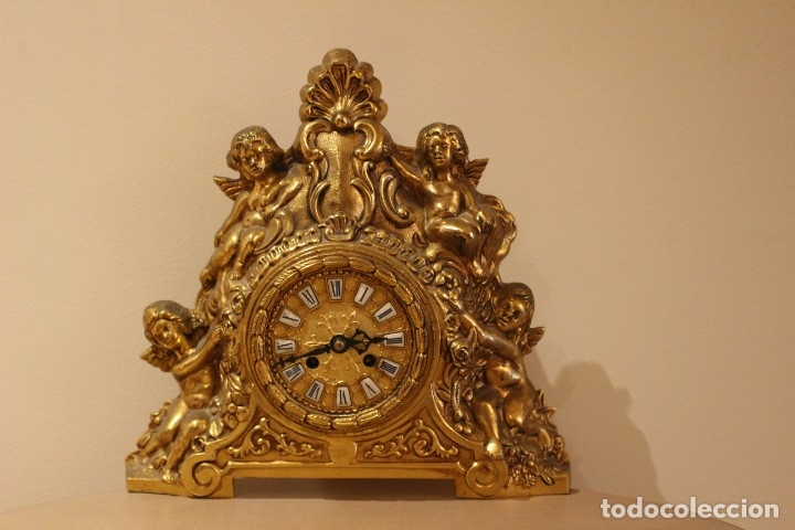 Relojes de carga manual: ANTIGUO RELOJ DE BRONCE CARGA MANUAL FUNCIONAONANDO !!! AÑOS 45-50 - Foto 2 - 173681408
