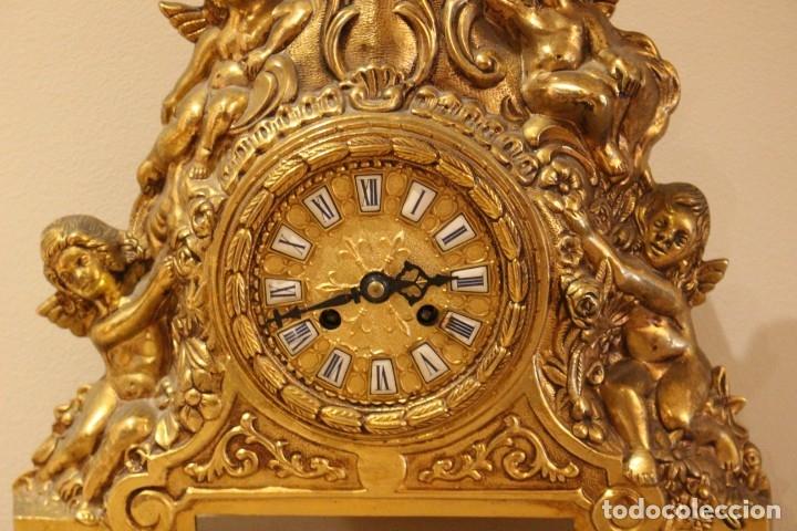 Relojes de carga manual: ANTIGUO RELOJ DE BRONCE CARGA MANUAL FUNCIONAONANDO !!! AÑOS 45-50 - Foto 3 - 173681408