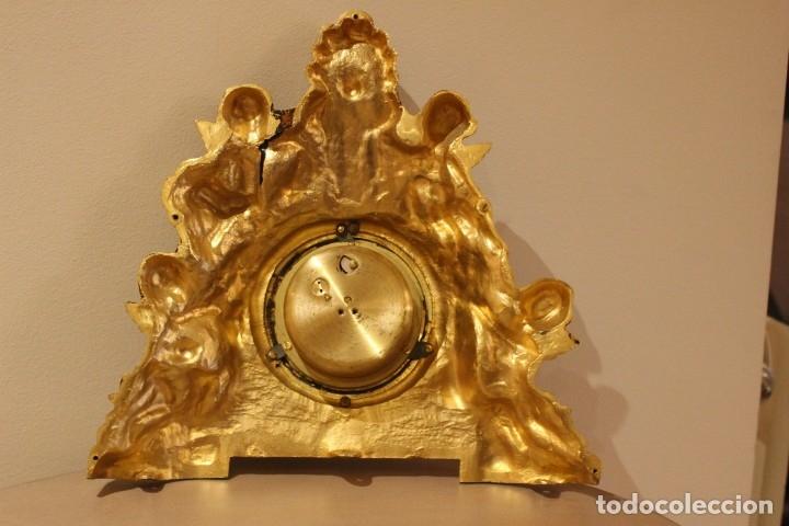 Relojes de carga manual: ANTIGUO RELOJ DE BRONCE CARGA MANUAL FUNCIONAONANDO !!! AÑOS 45-50 - Foto 4 - 173681408