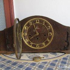 Relojes de carga manual: RELOJ ANTIGUO ALEMAN DE MESA CON DEFECTO CON SONERIA DE CAMPANADAS MELODÍA CATEDRAL BIB BEN CARILLÓN. Lote 173868360