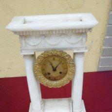 Relojes de carga manual: PRECIOSO PÓRTICO EN ALABASTRO. Lote 173927097