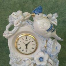 Relojes de carga manual: ANTIGUO RELOJ DESPERTADOR JAPONES LANDEX ROYAL CRAFT EN FIGURA DE PORCELANA MADE IN JAPAN. Lote 173970227