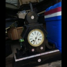 Relojes de carga manual: ESPECTACULAR RELOJ FRANCÉS SIGLO XIX MÁRMOL NEGRO. Lote 174057584