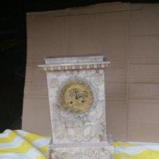 Relojes de carga manual: ANTIGUO RELOJ FRANCÉS DE ALABASTRO ESFERA BRONCE AL MERCURIO ORO FINO PRIMER IMPERIO. Lote 174064115