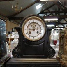 Relojes de carga manual: ESPECTACULAR RELOJ FRANCÉS ESCAPE VISTO MÁRMOL NEGRO SIGLO XIX. Lote 174076788