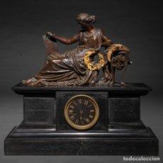Relojes de carga manual: DAMA CLÁSICA - RELOJ DE SOBREMESA FRANCÉS NAPOLEÓN III. TRABAJO FRANCÉS, SIGLO XIX. Lote 174305725