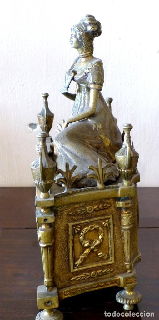 Relojes de carga manual: Reloj de bronce estilo francés del Siglo XIX - Foto 2 - 174379072