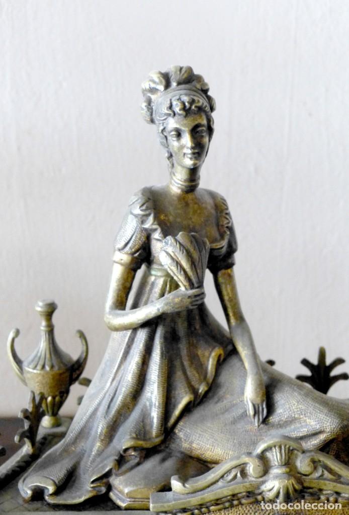 Relojes de carga manual: Reloj de bronce estilo francés del Siglo XIX - Foto 6 - 174379072